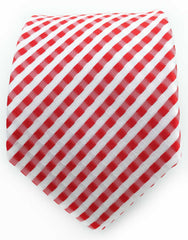 red & white seersucker necktie