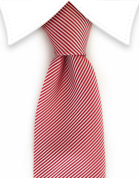 Red white pinstripe tie
