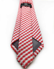red white gingham tie - back view