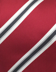 close up of red tie