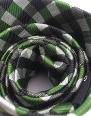 Green & Black Check Necktie