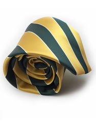 Gold and Green Striped Tie