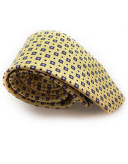 butter yellow rolled up tie
