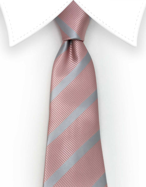 rose gold extra long tie