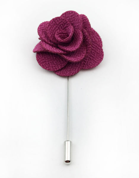 pink rose flower lapel pins