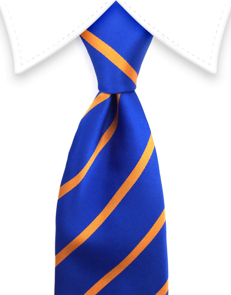 royal blue & orange striped tie