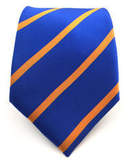 royal blue and orange tie