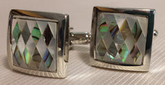 mother of pearl square cufflinks