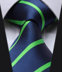 Navy Blue & Bright Green Tie