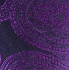 purple paisley tie swatch