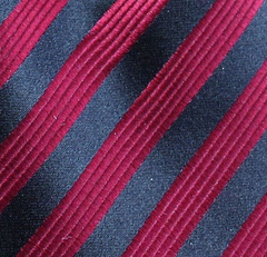 Black and Red Long Tie Swatch