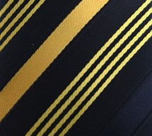 Black and yellow pocket hanky