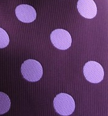 Grape Purple and Lilac Polka Dot Necktie