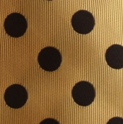 Gold and Black Polka Dot Necktie
