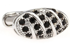silver cufflinks with black stones
