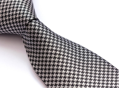 Black and Silver Houndstooth Tie