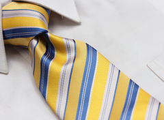 Yellow & Blue Striped Necktie
