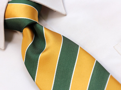 Green and Gold Striped Tie