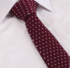 Burgundy Wine Knitted Tie with White Flecks