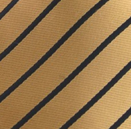 Gold & Black Striped Pocket Hanky