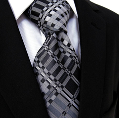 Black, Charcoal & Silver Tie