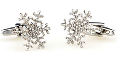 snowflake winter cuff links