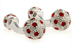 Red ball cufflinks
