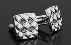 Silver & Crystals Cufflinks