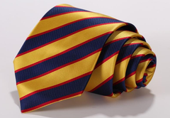 Yellow & Navy Striped Necktie