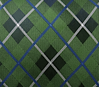 Green plaid argyle tie