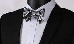 Black and Silver Bow Ties
