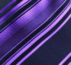 Black and purple striped pocket hanky