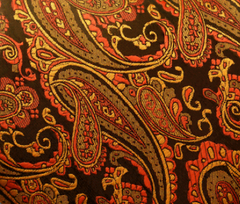 orange paisley hanky