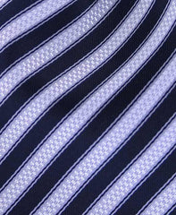 Black & Silver Striped Men's Tie