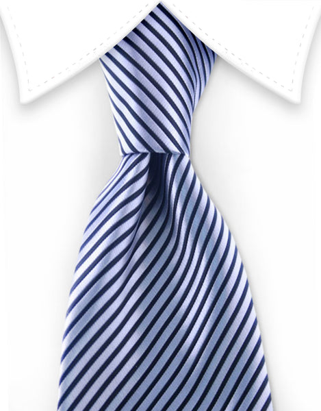Silver & Black pinstriped necktie
