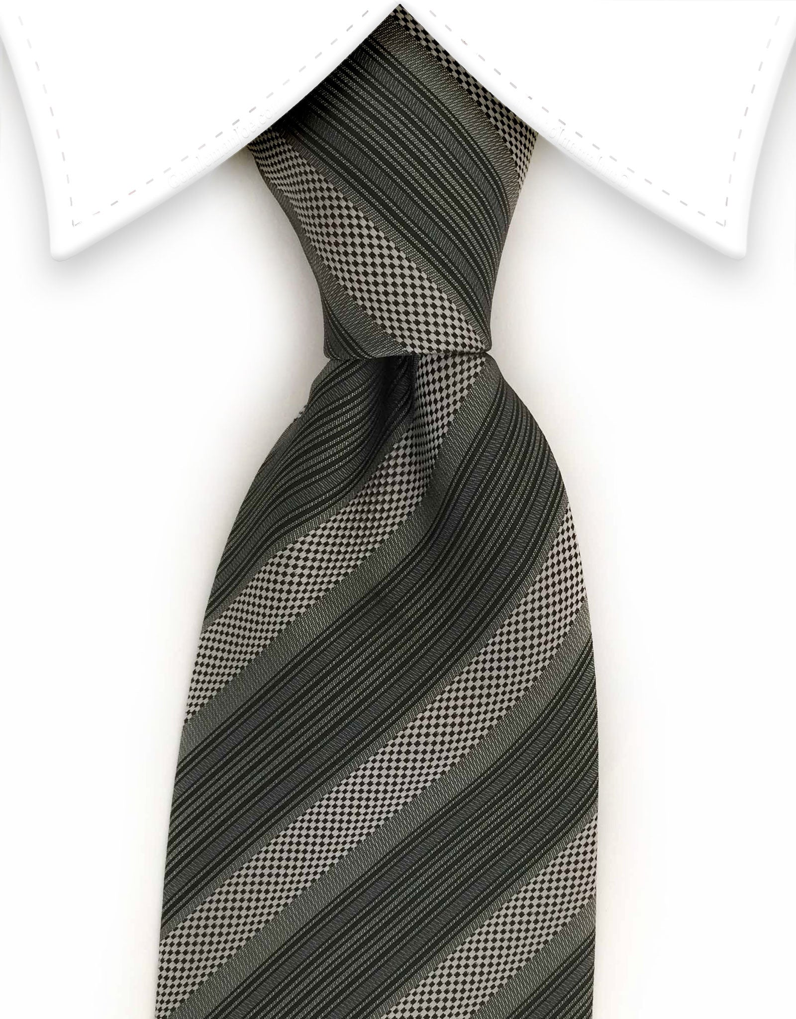Silver, Gray & Charcoal tie