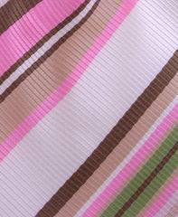 Pink, Brown, Green Striped Necktie