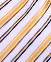 Gold & White Striped Tie