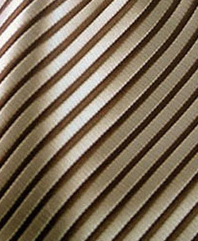 taupe and brown striped pocket hanky