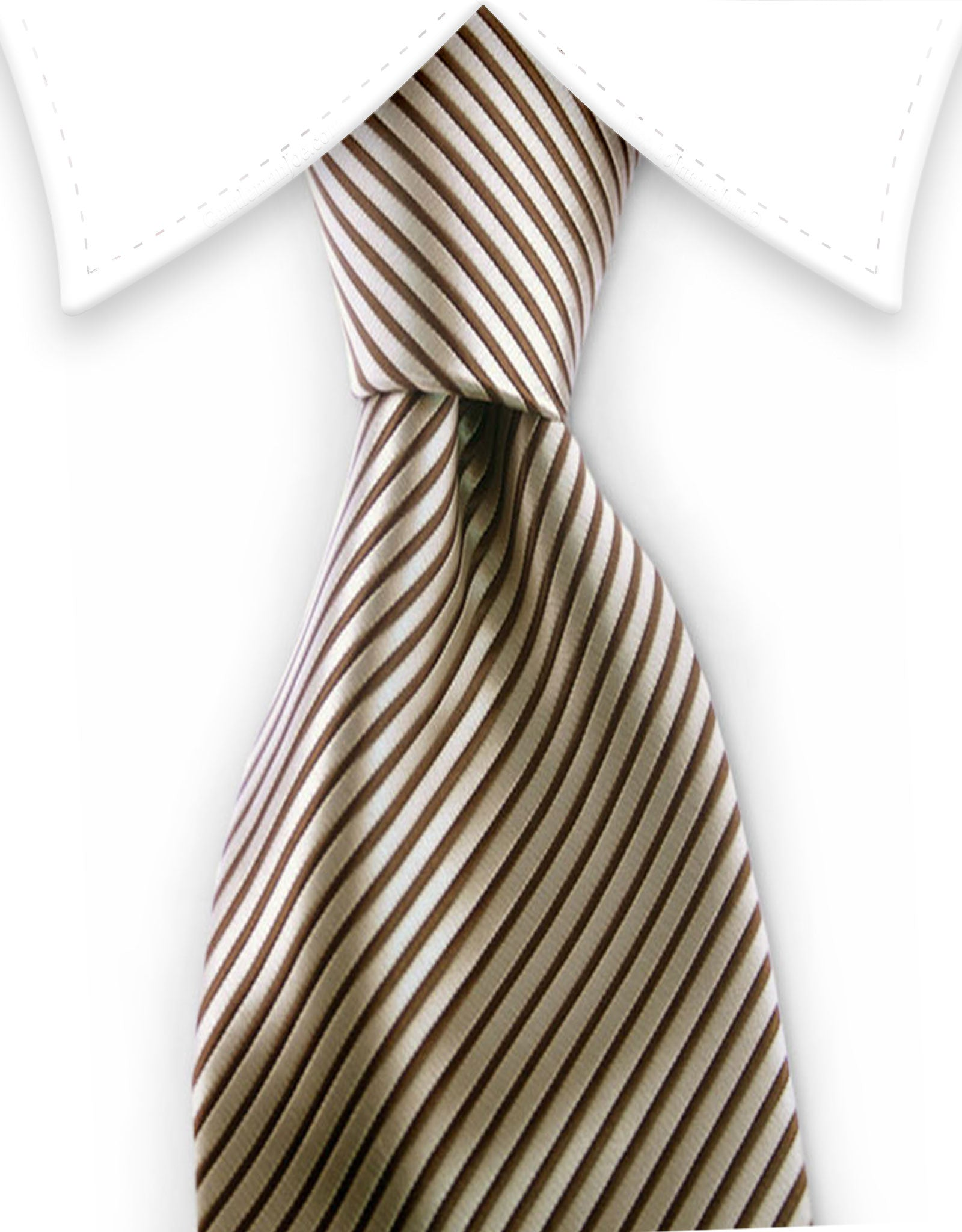 Brown & taupe pinstriped tie