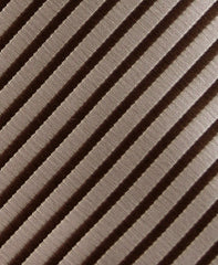 Brown & Taupe Striped Teen Tie