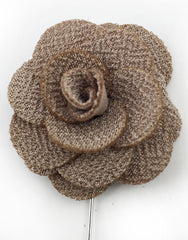 Taupe Flower for Men's Lapel