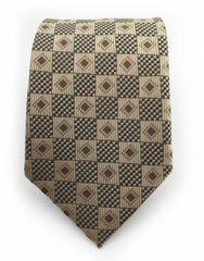 Taupe and beige tie