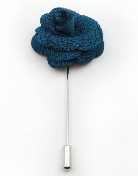Teal Flower Lapel Stick Pin