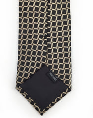 black and taupe grid tie