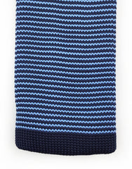 Blue Pinstriped Knit Tie