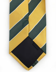 golden yellow green tie