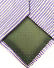 tip of lilac purple necktie