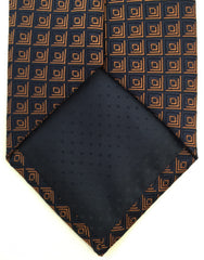 tip of navy orange necktie