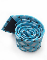 turquoise slim tie rolled up